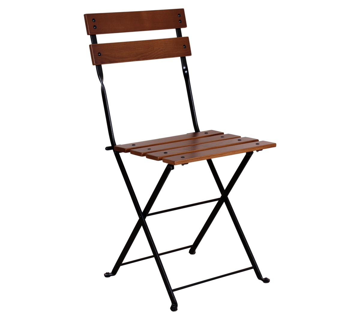 5502CW-BK European Chestnut Side Chair with Walnut Stain