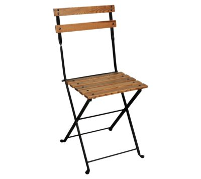 5503CW-BK Side Chair - European Chestnut Slats and Black Frame