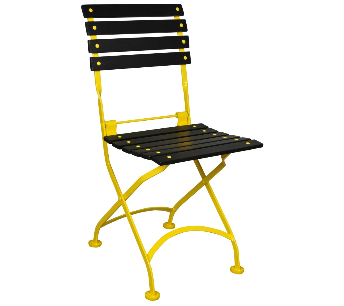 Veronique Chair 5504 - Black Slats and Yellow Frame