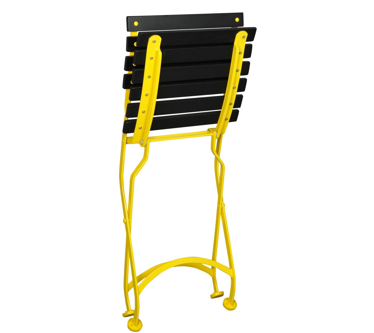 Folded Veronique Chair 5504 - Black Slats and Yellow Frame