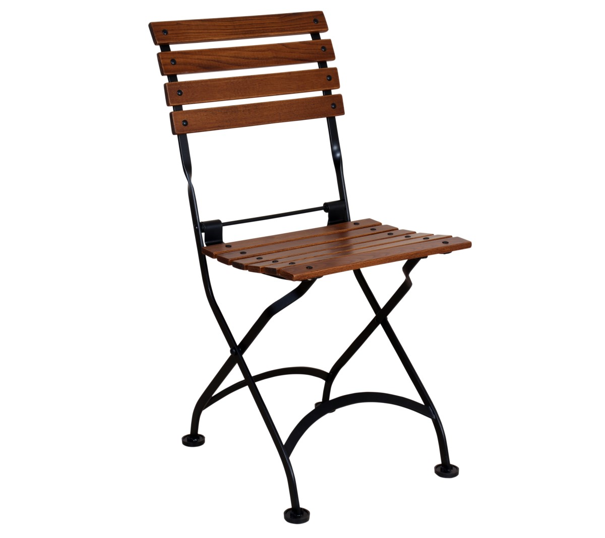 Veronique Chair - European Chestnut Slat - Walnu Finish with Black Frame - 5504CW-BK