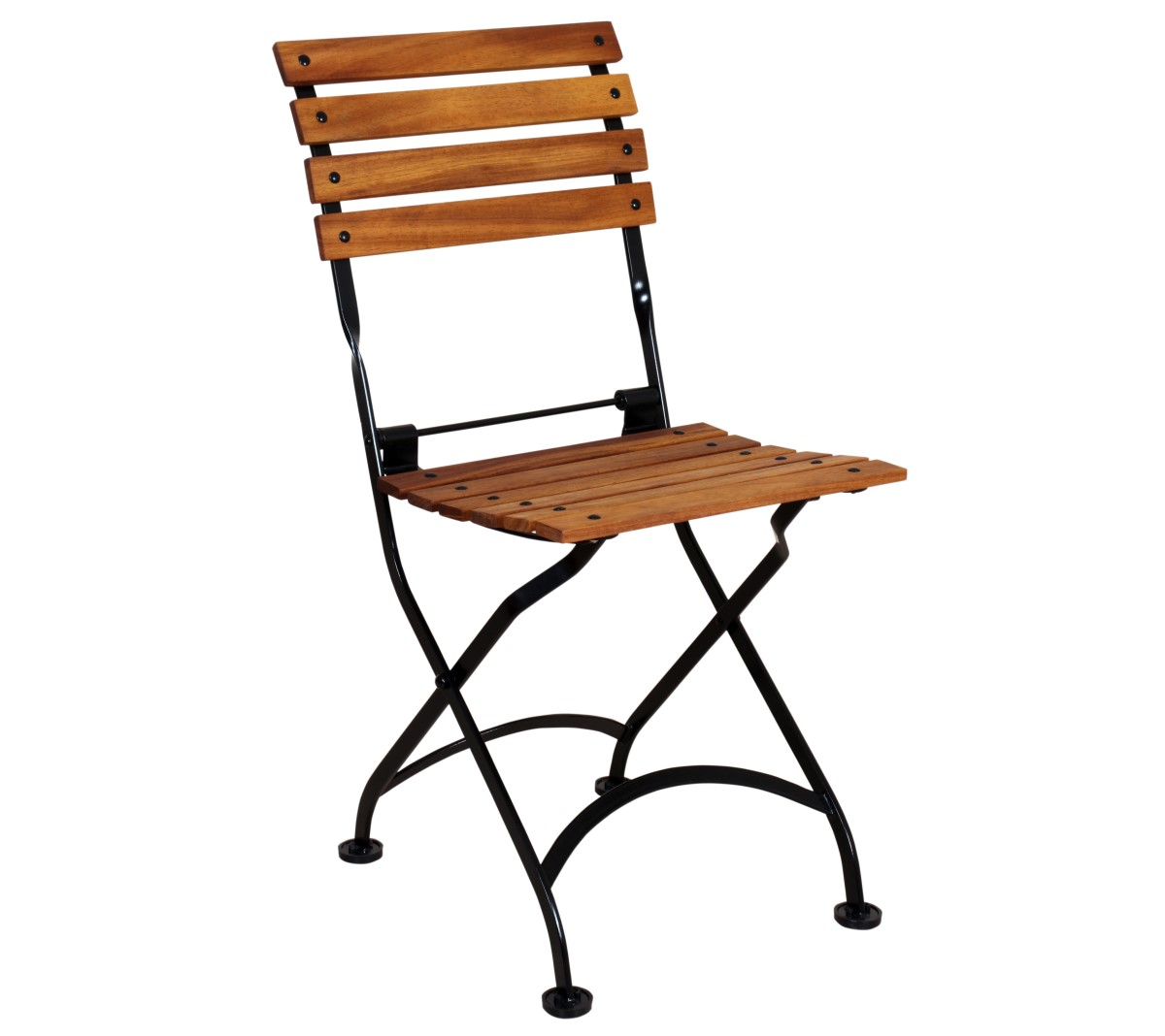Veronique Chair - Teak Natural Finish with Black Frame - 5504T-BK