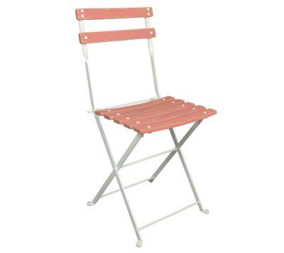 Dijon Chair - Chestnut Slats - Aged Wood Finish - Pink