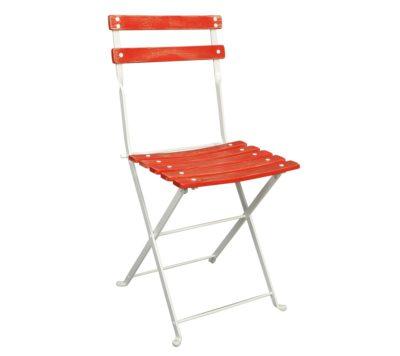 Dijon Chair - Chestnut Slats - Aged Wood Finish - Red