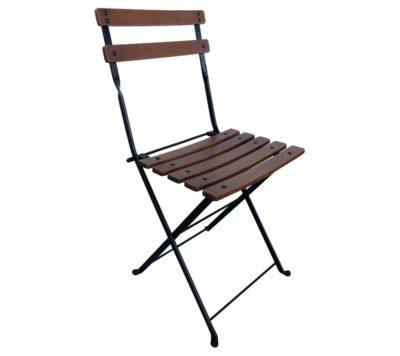 Dijon Chair - 5508CW-BK - Chestnut with Walnut Stain - Black Frame
