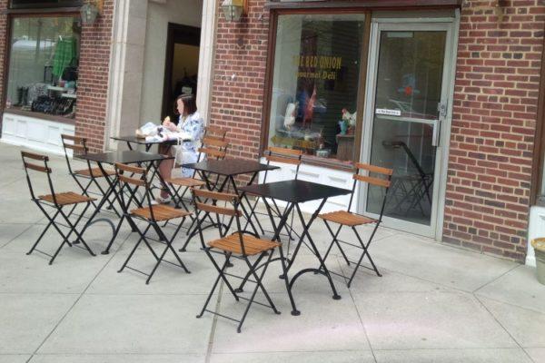 Dijon Chair - 4122 Steel Table - Onion Restaurant
