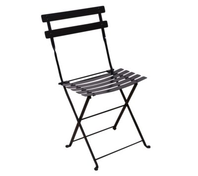 Paris Cafe Chair - 5517S-BK - Jet Black Metal Chair