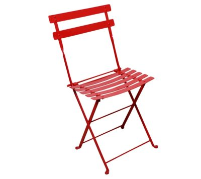 Paris Cafe Chair - 5517S-RD - Flame Red Metal Chair