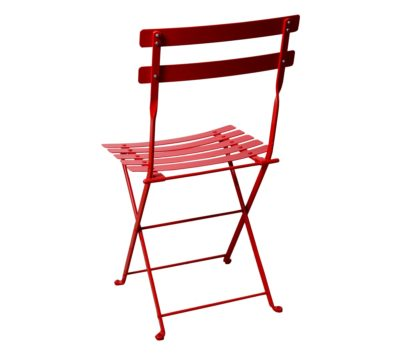 Paris Cafe Chair - 5517S-RD Flame Red Metal - Rear View