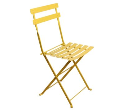 Paris Cafe Chair - 5517S-YL - Zinc Yellow Metal Chair