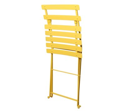 Paris Cafe Chair - 5517S-YL Zinc Yellow Metal Chair - Folded
