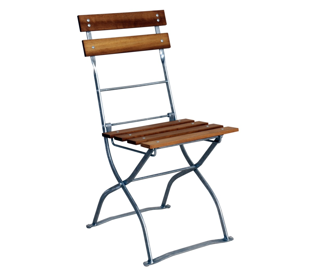 German Beer Garden Chair 5503cw Bk Side European Chestnut Slats And Black Frame