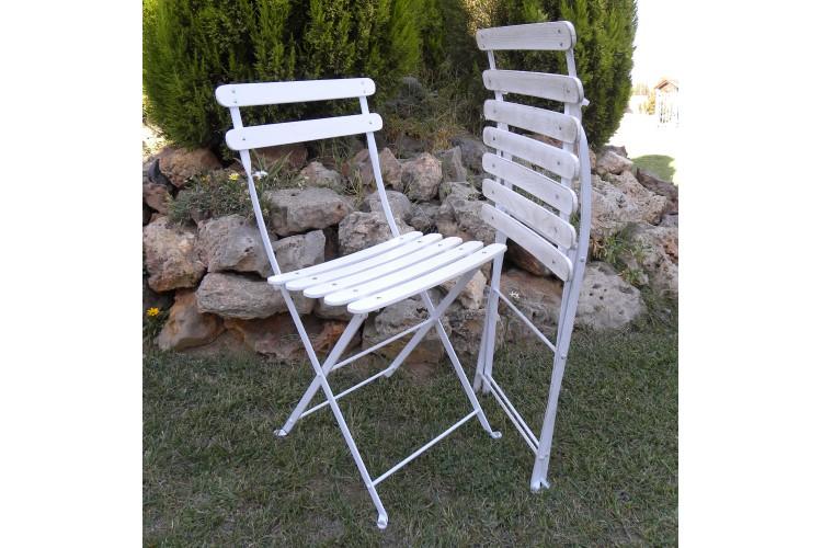 Bryant Park Chair - Antique White