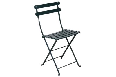 Bryant Park Chair with Green Frame and slats