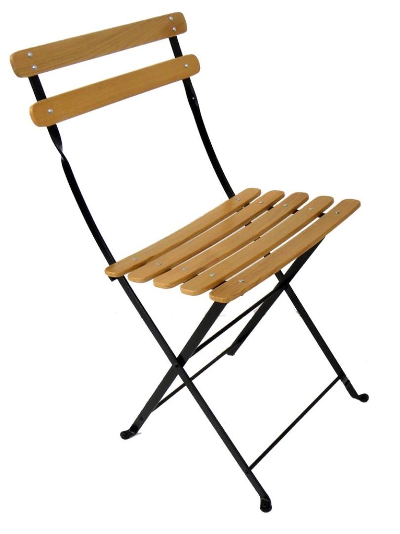 Bryant Park Chair Natural Chestnut and Black Frame