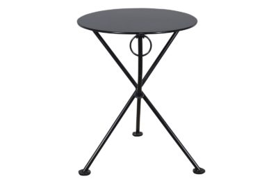 4139S-BK Metal 3-Leg Table 24ø Black