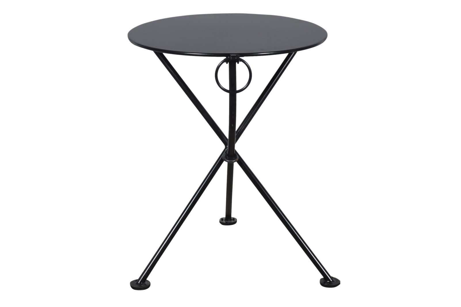 4139S-BK Metal 3-Leg Table 24ø Black