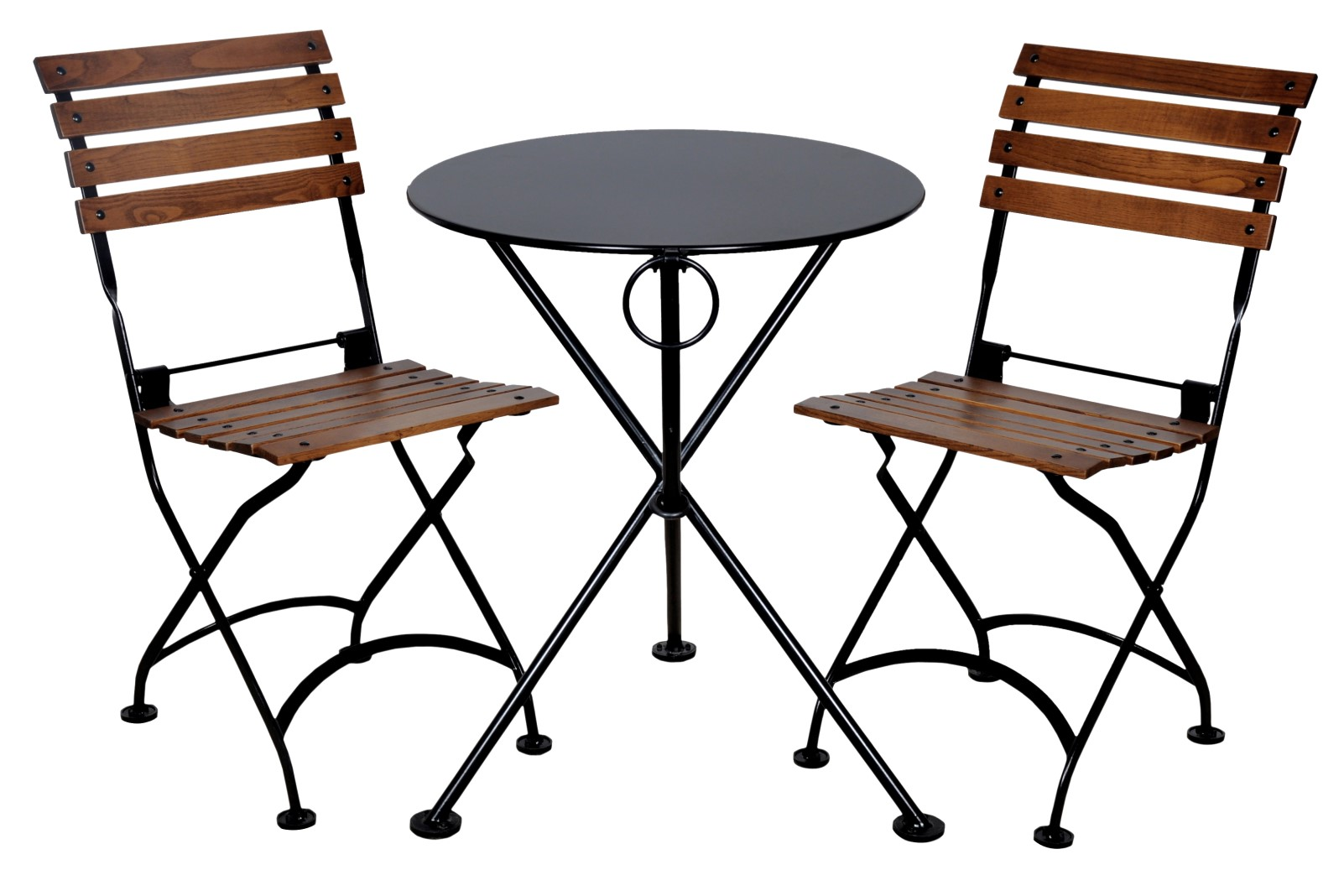 4139S-BK Table and 5504CW-BK chairs