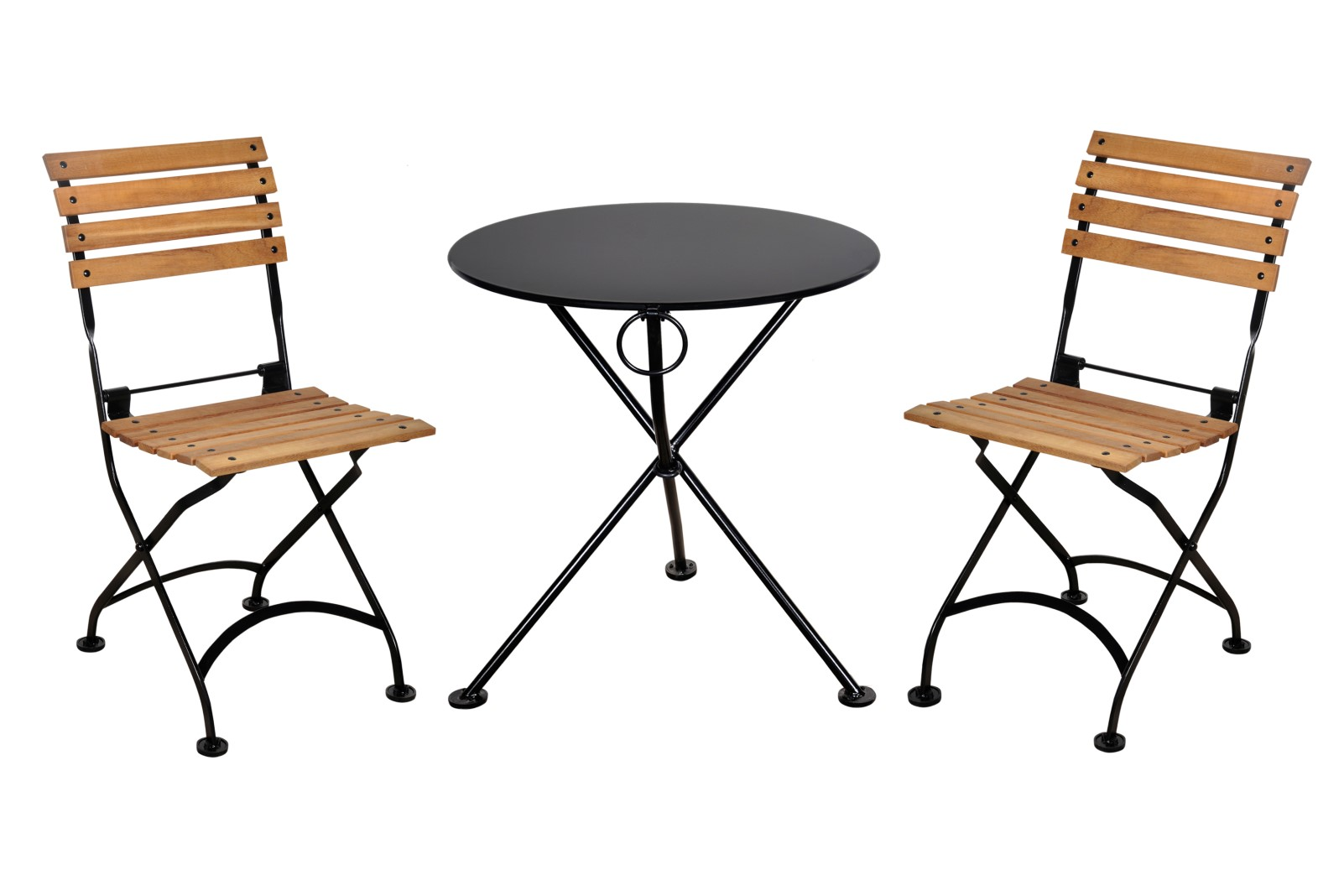 4139S-BK Table and 5504T-BK Chairs
