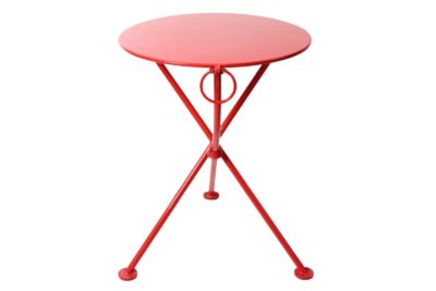 4139S-RD Metal 3-Leg Table 24 Red