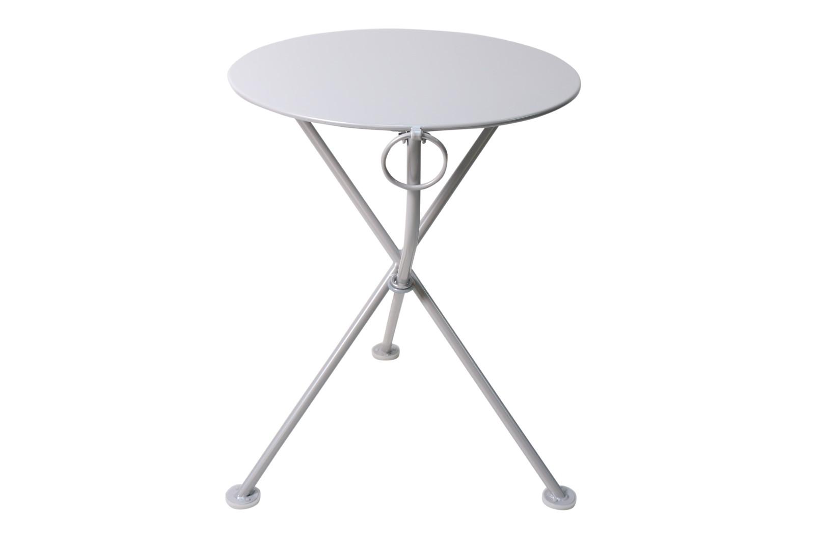 4139S-WA Metal 3-Leg Table 24 Silver Grey