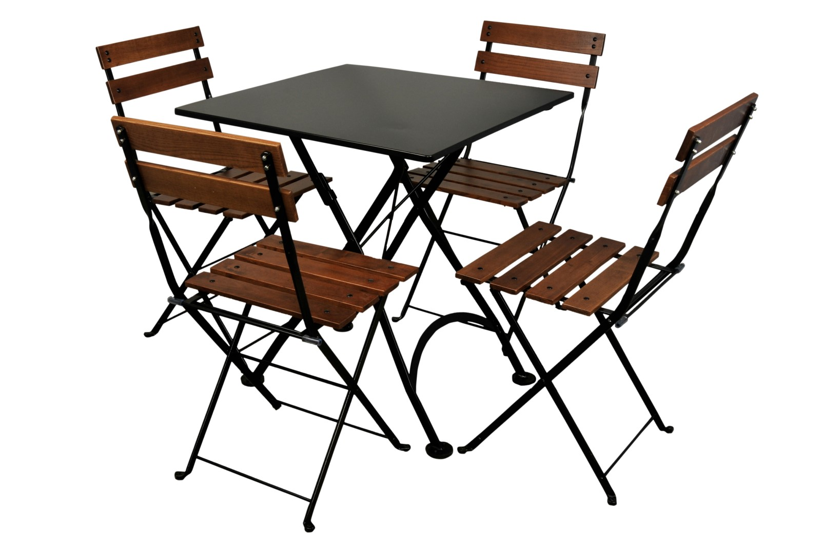 4113S-BK Table and 5502CW-BK Chairs