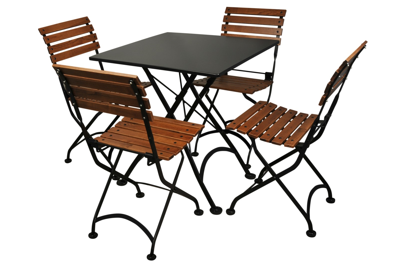4113S-BK Table and 5504CW-BK Chairs