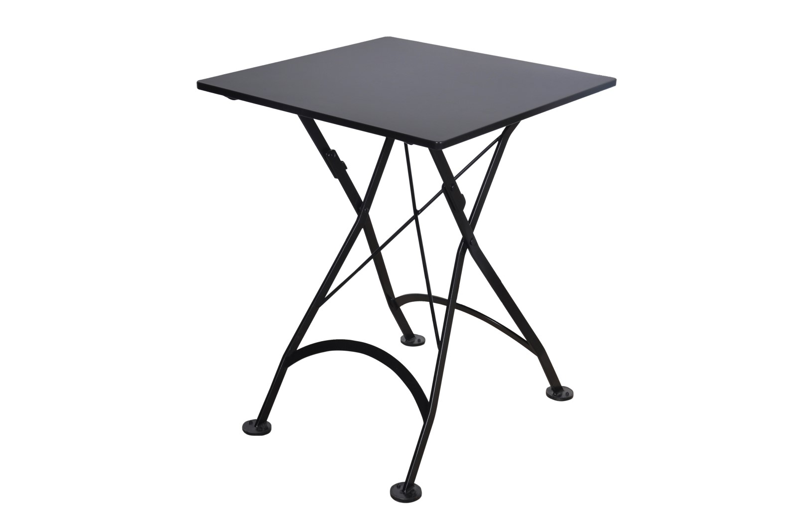 4122S-BK Metal Table 24 x 24