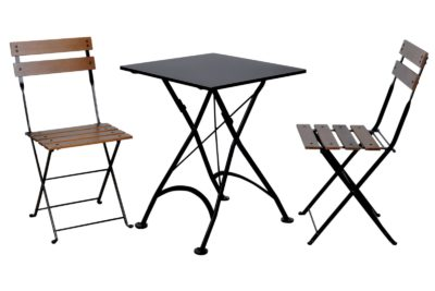 4122S-BK Table and 5502CW-BK Chairs