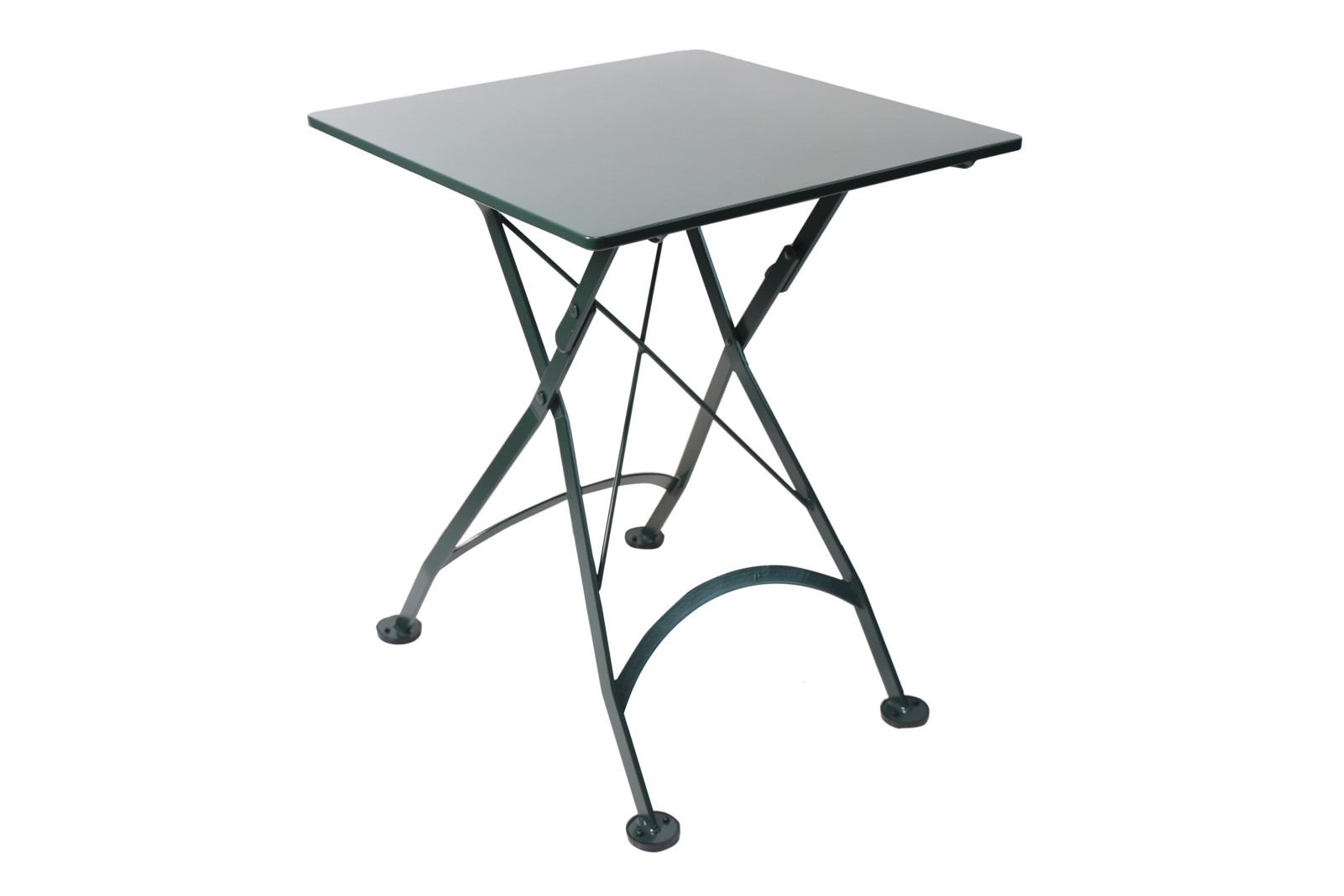 4122S-GR Metal Table with BlackGreen Top and frame 24-x-24
