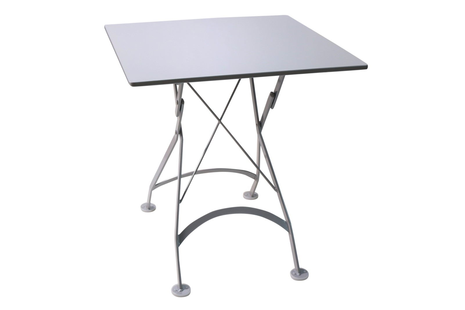 4122S-WA Metal Table with White Aluminum Top and frame 24 x 24