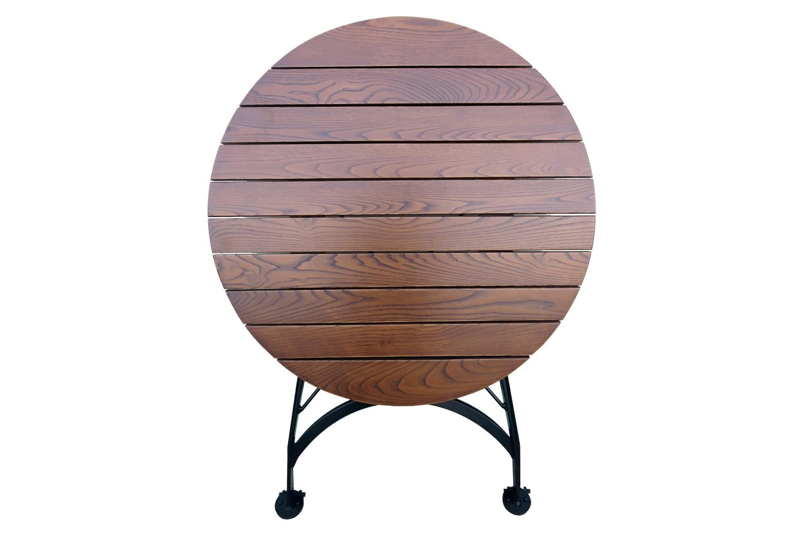 4106CW-BK European Chestnut dining table folded