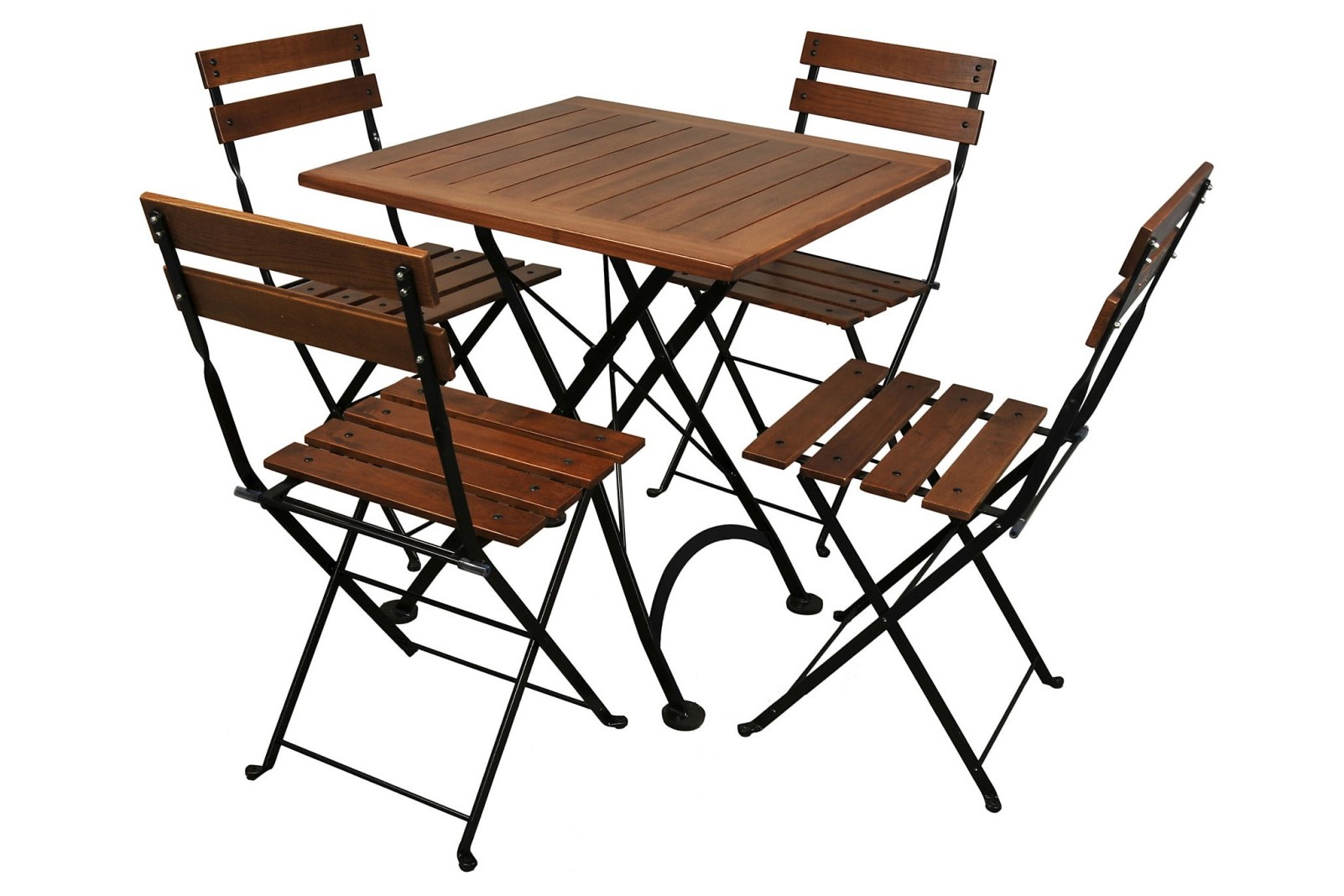 4113CW-BK European Chestnut dining table and 5502CW-BK chairs