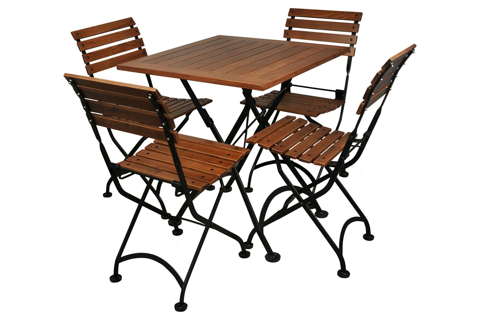 4113CW-BK European Chestnut dining table and 5504CW-BK chairs
