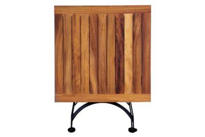 4114T-BK African Teak dining table folded
