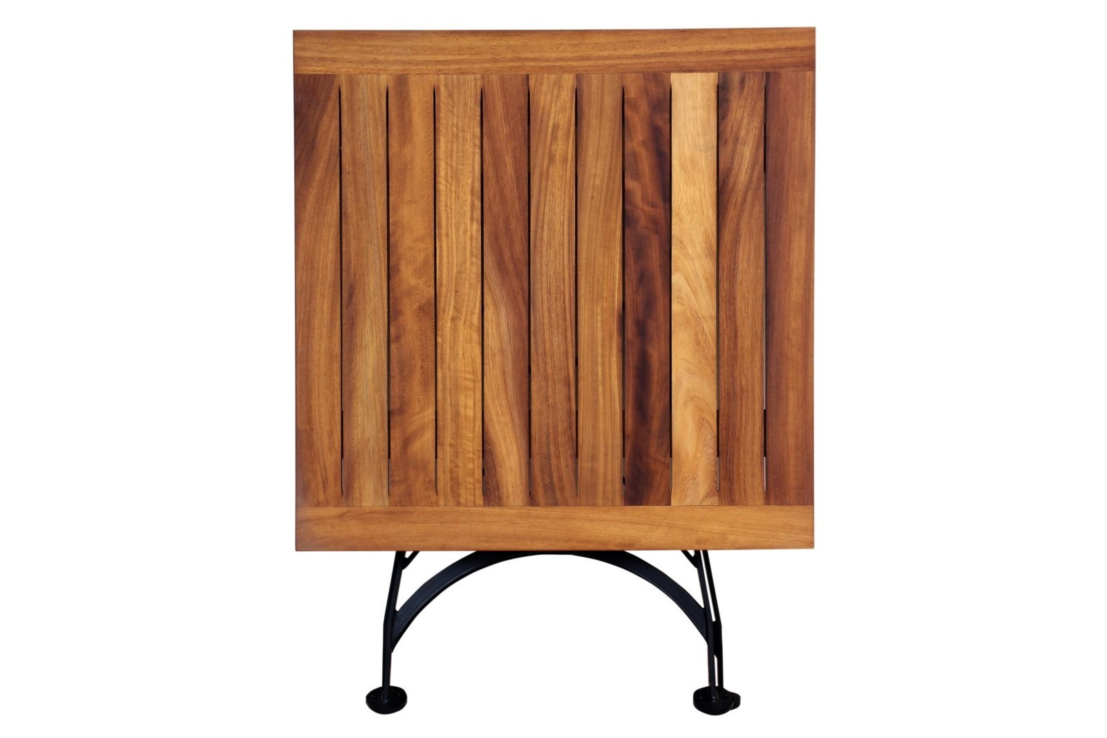 4114T-BK African Teak dining table folded
